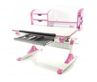 Стол Mealux Aivengo-M (EVO-700) WP столешница белая/ножки белые с розовыми накладками