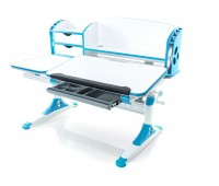 Стол Mealux Aivengo-L (EVO-720) WB столешница белая/ножки белые с синими накладками