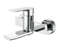 KAISER Linear 59022, смеситель для ванны, короткий излив, картридж ф35, цвет Chrome