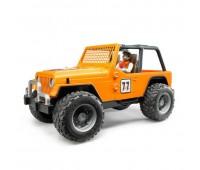 Внедорожник Bruder Cross Country Racer оранжевый с гонщиком