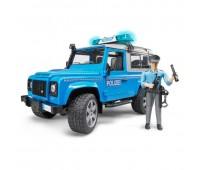 Внедорожник Bruder Land Rover Defender Station Wagon Полицейская с фигуркой