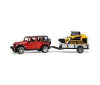 Внедорожник Jeep Wrangler Unlimited Rubicon c прицепом-платформой (Bruder, 02-925)