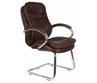 Кресло Бюрократ T-9950AV/Brown низкая спинка сиденье коричневый кожа/кожзам