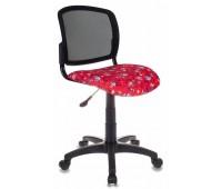 Кресло детское Бюрократ CH-296/ANCHOR-RD спинка сетка черный сиденье красный якоря ANCHOR-RD