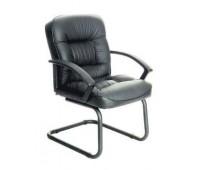 Кресло Бюрократ T-9908AXSN-Low-V низкая спинка черный кожа