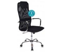 Кресло руководителя Бюрократ KB-9/BLACK черный TW-01 TW-11 сетка крестовина хром
