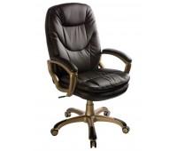 Кресло руководителя Бюрократ CH-868YAXSN/Coffee темно-коричневый искусственная кожа (пластик золото)