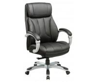 Кресло руководителя Бюрократ T-9921/BLACK черный рец.кожа/кожзам (пластик серебро)