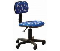 Кресло детское Бюрократ CH-201NX/DOGS-BL синий собачки Dogs-Bl