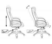 Кресло игровое Бюрократ VIKING-8/BL+BLUE черный/красный искусственная кожа