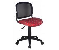 Кресло детское Бюрократ CH-296NX/MOTO_RD спинка сетка черный сиденье красный мотоциклы Moto-Rd