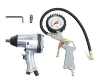 FUBAG Набор пневмоинструмента 2 предмета (пневмогайковерт 312 Нм + пневмопистолет для накачки шин с манометром)