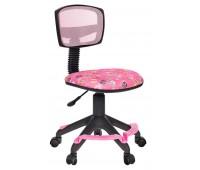 Кресло детское Бюрократ CH-299-F, PK, FLIPFLOP_P спинка сетка розовый сланцы колеса розовый