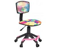 Кресло детское Бюрократ CH-299-F, ABSTRACT спинка сетка абстракция колеса розовый