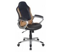 Кресло руководителя Бюрократ CH-825S/Black+Bg вставки бежевый сиденье черный искусственная кожа (пластик серебро)