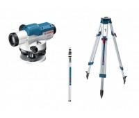 Оптический нивелир Bosch GOL 20 D + штатив BT 160 + рейка GR 500