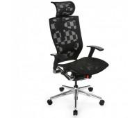 Кресло руководителя Бюрократ 811/Black черный клетка сетка крестовина алюминий