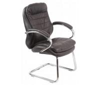 Кресло Бюрократ T-9950AV/Black низкая спинка сиденье черный кожа/кожзам
