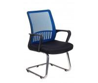 Кресло Бюрократ MC-209, BL, TW-11 спинка сетка синий TW-05 сиденье черный TW-11