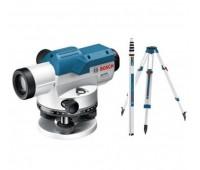 Оптический нивелир Bosch GOL 26 D + штатив BT 160 + рейка GR 500