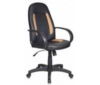 Кресло руководителя Бюрократ CH-826/B+BG вставки бежевый сиденье черный искусственная кожа