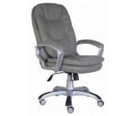 Кресло руководителя Бюрократ CH-868SAXSN/Grey серый искусственная кожа (пластик серебро)