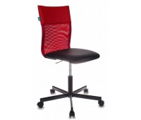 Кресло Бюрократ CH-1399/R+B спинка сетка красный сиденье черный искусственная кожа крестовина металл