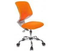 Кресло детское Бюрократ KD-7/TW-96-1 оранжевый TW-96-1 крестовина хром колеса серый (пластик серый)