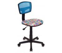 Кресло детское Бюрократ CH-299/LB/MARK-LB спинка сетка голубой марки