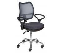 Кресло Бюрократ CH-799SL/DG/TW-12 спинка сетка темно-серый сиденье серый TW-12 крестовина хром