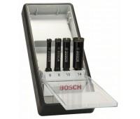 Bosch Набор из 4 алмазных свёрл Robust Line для мокрого сверления 6, 8, 10, 14 мм (2607019880)