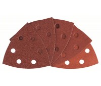 Bosch Набор шлифлистов по древесине 10 шт. 93 мм, 60, 80, 100, 120, 180 (2608607540)
